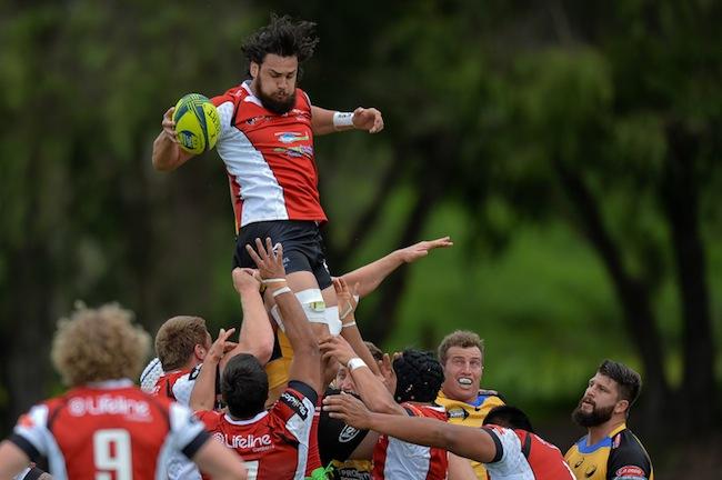 Jordan Smiler takes a lineout ball against Perth Spirit last Saturday - Photo: Johan Schmidt Photography