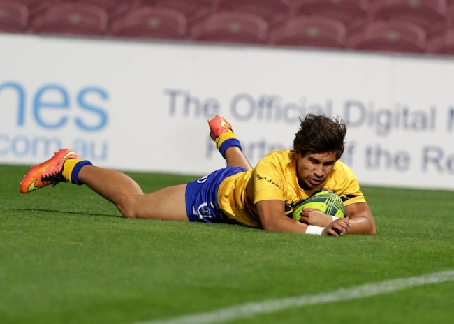 City flyer Junior Laloifi crossed for his 11th try of the season - Photo: QRU / Sportography